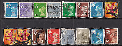 GB QE2  Selection of 16 x Regional stamps in Various conditions. ( E324 )