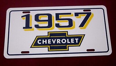 1957 Chevrolet license plate tag 57 Chevy Bel Air Nomad Pickup Truck Wagon 210