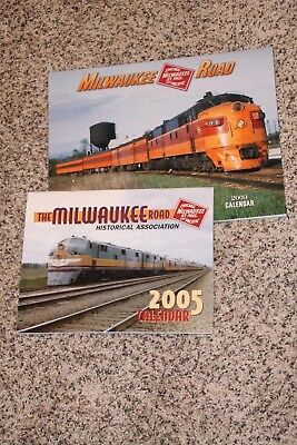 TWO MILWAUKEE RAILROAD Calendars  2009 and 2005 All Color Photos