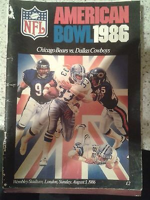American Football Wembley programes 3 in total 1986 1987 1988