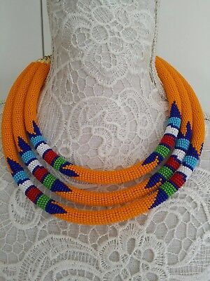 Ethnic tribal African Kenyan Masai jewelry bead TRIBAL  necklace