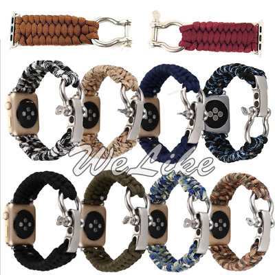 Nylon Knitting Loop Strap Sport Band for iWatch Apple Watch 42/38mm Series 1/2/3