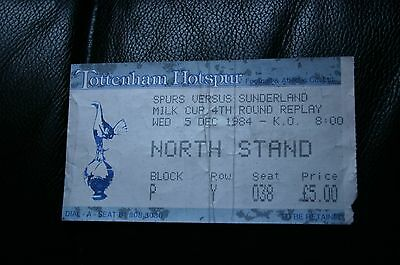 Tottenham Hotspur v Sunderland 1984 League Cup Ticket Stub