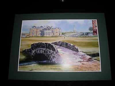 Mounted St.Andrews Golf Print