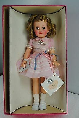 """Ideal Shirley Temple 15"""" Doll Vintage 1957 Pink Party Dress"""