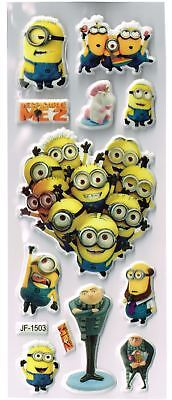 10 x Sticker Sheets DESPICABLE ME Ideal Stickers for Scrapbooks or Party Bags