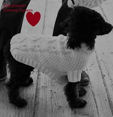 Knitting Pattern For Cable Knit Dog Coat To Fit Yorkshire Terrier