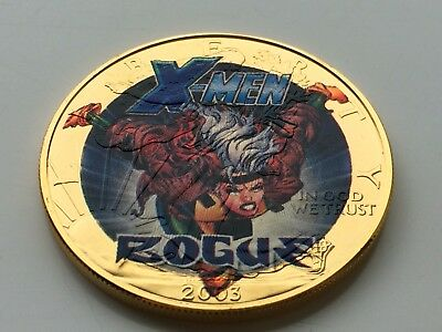 2003 Ultimate Marvel Super Hero Collection Rogue 1Oz .999 Silver Round