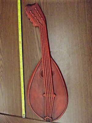 Royal Cast Metal Mandolin Musical Instrument Wall Plaques Ioof Odd Fellows