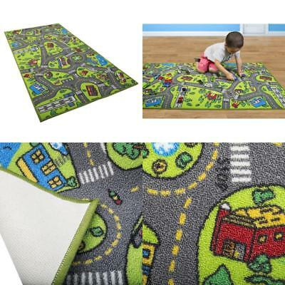 Kids Carpet Playmat Rug City Life - Great For Playing With Cars And Toys - Play,
