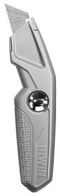 Irwin 1774103 Drywall Fixed Utility Knife 9-3/16 In L Silver Ergonomic Carbon