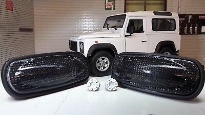 Land Rover Defender TD5 TDCI LED Smoked Clear Repeater Indicators XGB100310L XS