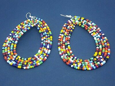 African/Kenyan Masai Handmade BEADED  Earrings.