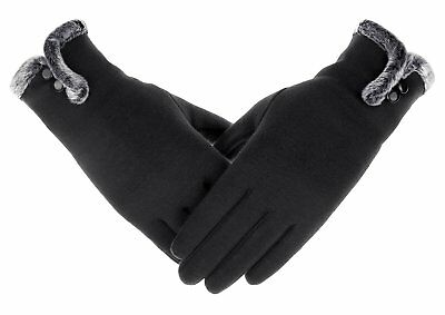 Women's NEW Fashion Touch Screen Warm Winter Thick Gloves With Button