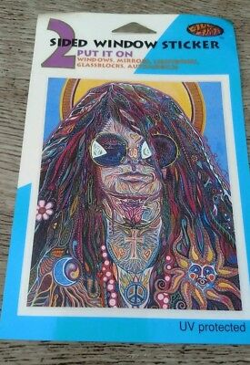 Sticker rock and roll Janis Joplin, new, vintage , double sided window sticker