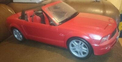 "BARBIE Red 18"" MUSTANG GT CONVERTIBLE Mattel 2003 Sports Car Toy (Used)"