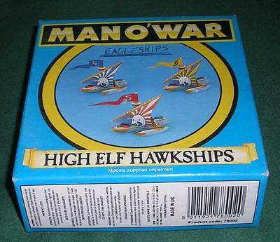 Man O' War Citadel OOP Rare GW Boxed High Elf Eagleship Squadron of 3 models.