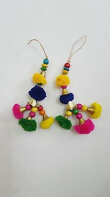 Pom Pom Beautiful Rainbow Tassel/Latkan, Bag Tassel, Blouse strings and Lehenga