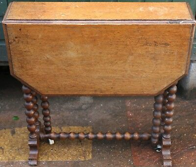 Good Slip Useful Sized Drop Leaf Table With Fancy Legs To Tidy Up Or Restore