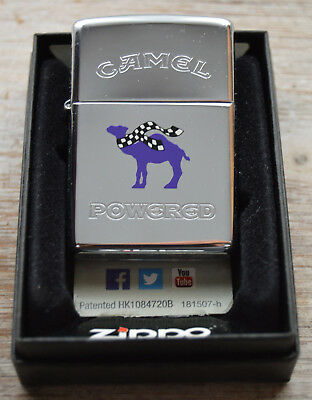 #44 Rare Joe Camel 1990's Zippo Racing 23 Purple Powered Icon with Originl Box