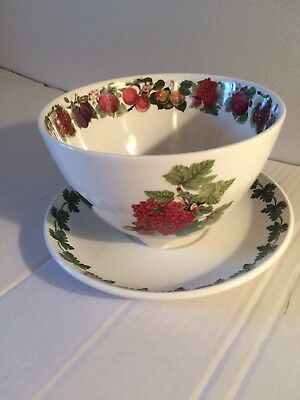 Portmeirion Pomona Fruit Strainer Bowl With Under Plate