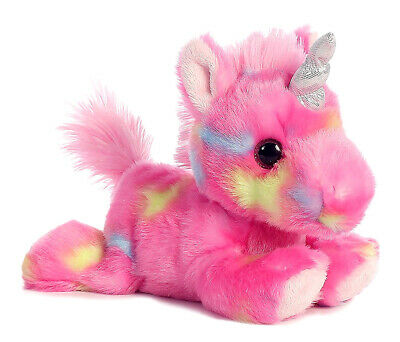 Aurora Aurora Pink Jellyroll Unicorn Super Soft Plush Stuffed Animals