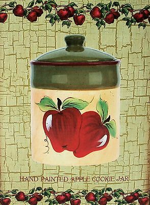 Apple Canister Cookie Jar Country Trippie's  NEW IN BOX