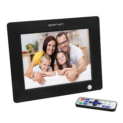 LED Digital Photo Frame Motion Induction Detection With Remote Control Black NEW