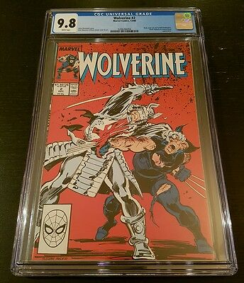 Wolverine #2 (1988 Marvel) Cgc 9.8 W.p. *pin-Up By Sienkiewicz*