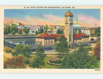 Unused Linen PANORAMIC VIEW Baltimore Maryland MD hp4011