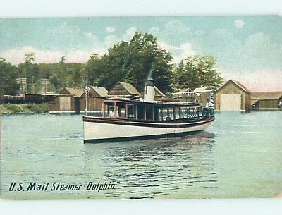 Divided-Back postcard of NAMED IDENTIFIABLE BOAT hp8523