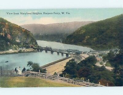 Divided-Back VIEW FROM MARYLAND HEIGHTS Harpers Ferry West Virginia WV hp5531