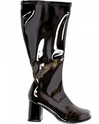 Black Patent Go Go Wide Fit Womens Boots