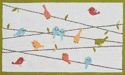 The Rug Market Birds On A Wire Children's Area Rug, 2.8' X 4.8