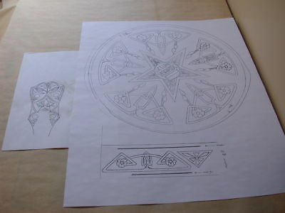 A Well Drawn Blueprint (white) TO SCALE Vega Vegavox Carved Pyralin NO RES!