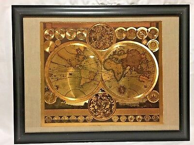 Vintage World Map by Peter Schenk the Elder 1645-1715
