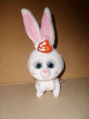 "Ty Beanie Babies Secret Life of Pets Snowball The Bunny Soft Plush 5"" NWT"