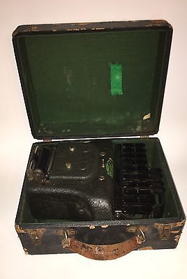 Vintage Stenotype Court Recorder Stenograph Machine with Case