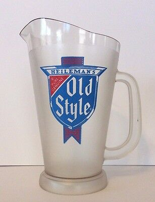 Vintage Old Style Beer  Frosted Plastic Pitcher