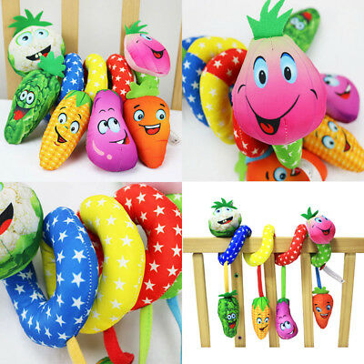 Baby Infant Rattles Plush Animal Stroller Hanging Bell Play Toy Doll Soft Bed US