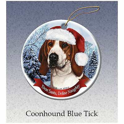 Treeing Walker Coonhound Howliday Porcelain China Dog Christmas Ornament