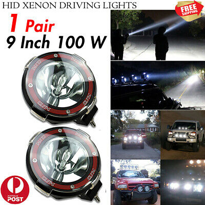 9 Inch 100W HID Driving Lights Xenon Spotlights Offroad 4x4WD Trucks Lamps 12V