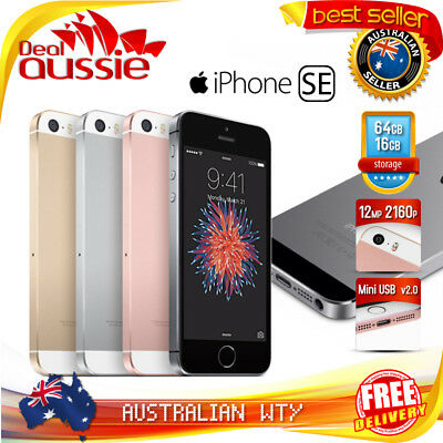 APPLE iPHONE SE 16GB 64GB FACTORY UNLOCKED MOBILE + 12MTH AUS WTY