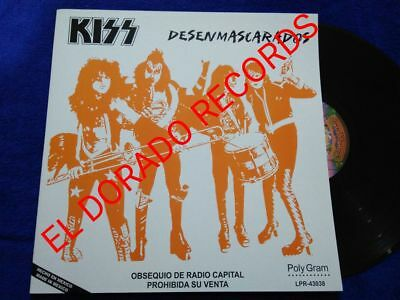 """Kiss """"unmasked"""" Mexico Promotional Vinyl Mexican Radio Station"""