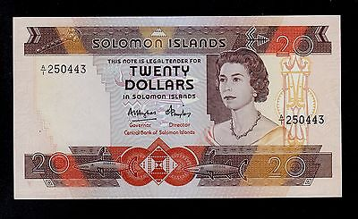 Solomon Islands  20 Dollars  ( 1984  ) Pick # 12  Au-Unc Banknote.