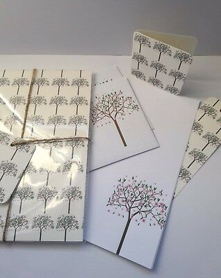 blossom Tree Letter Writing Paper and Envelopes Stationary Set, Great Gift Set