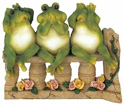 StealStreet SS-G-61046 3 Frogs on Bench Garden Decoration Collectible Figurine