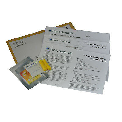 Food Intolerance Test  Home Testing Kit Postal Pack 64 Foods Tested