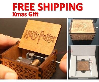 Engraved Wooden Music Box - Harry Potter Limited Time Discount