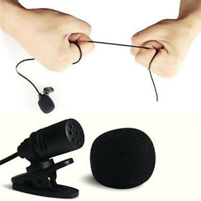 3.5mm Clip On Lapel Microphone Hands Free Wired Condenser Mini Lavalier Mic N